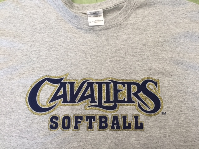 Screen Printing Cavaliers Softball