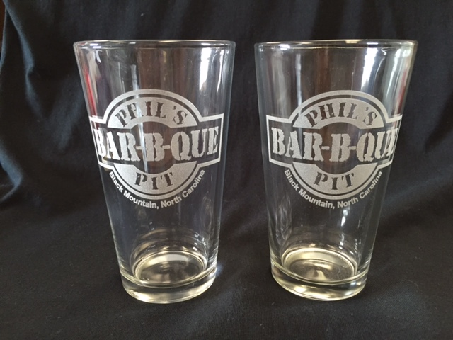 Laser Engraving - Phil's BBQ Beer Glasses